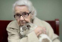 A 102 anni s'innamora di un gatto abbandonato