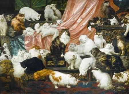 Gli amanti di mia moglie, olio su tela.  una delle più belle opere che rappresentano gatti, nel mondo